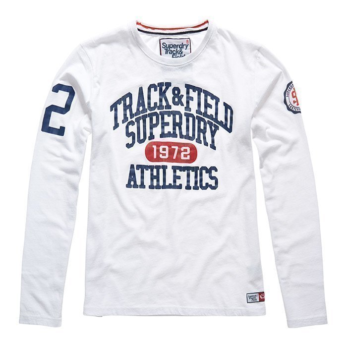 Superdry Men's Trackster Long Sleeve White
