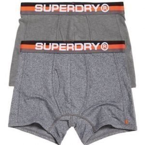 Superdry Retro Urheilubokserit Kaksoispakkaus Musta