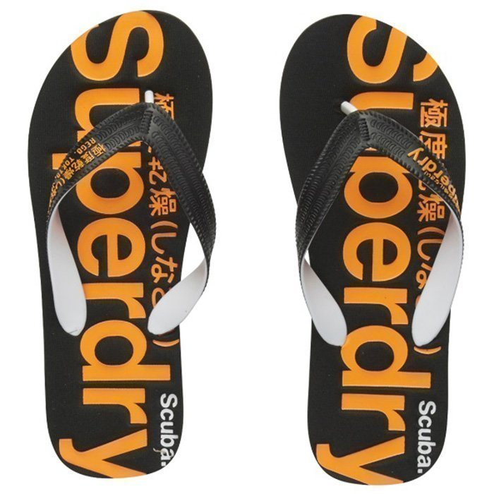 Superdry Scuba Flip Flop Black / Orange