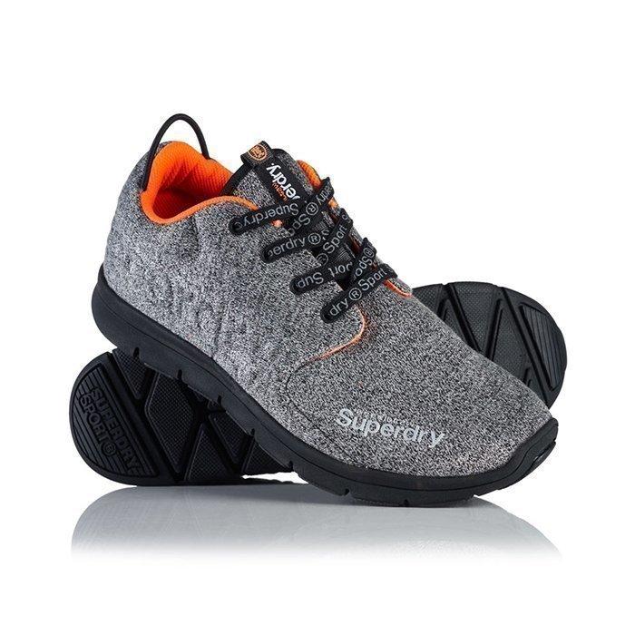 Superdry Scuba Runner Shoes Black/Grit 7