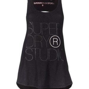 Superdry Sport Studio Drape Vest Treenitoppi