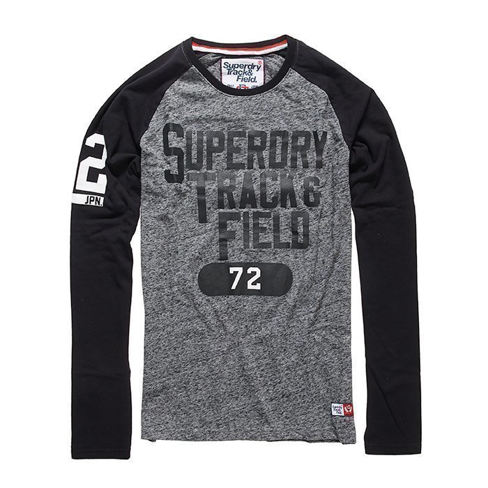 Superdry Trackster Baseball L/S Tee Black/Grey S