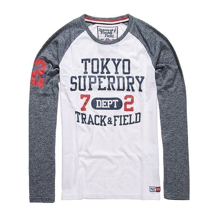 Superdry Trackster Baseball L/S Tee Navy/White L
