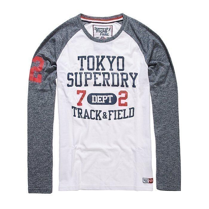 Superdry Trackster Baseball L/S Tee Navy/White