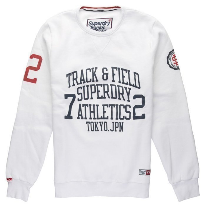 Superdry Trackster Crew Sweat Optic XL