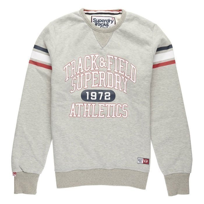 Superdry Trackster Crew Sweat Thropy Grey M