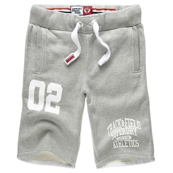 Superdry Trackster Sweat Shorts Grey Marl M