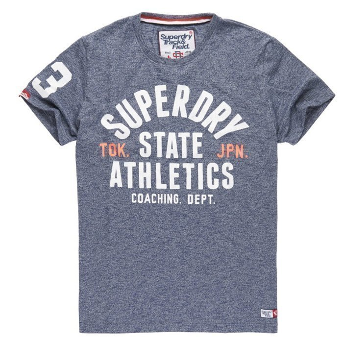 Superdry Trackster Tee Depth Blue M