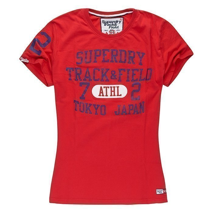 Superdry Trackster Tee Red XL
