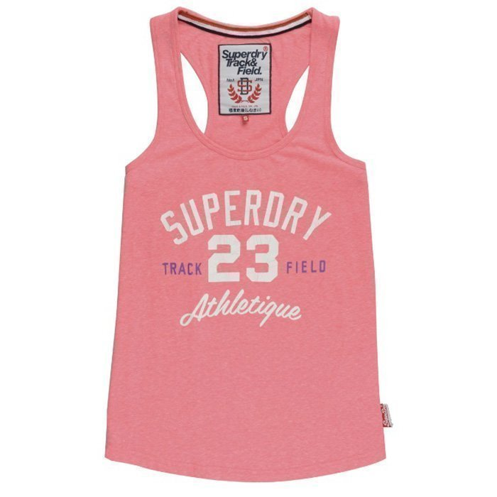 Superdry Trackster Vest Snowy Ultra Pink