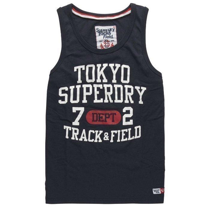 Superdry Trackster Vest Truest Navy