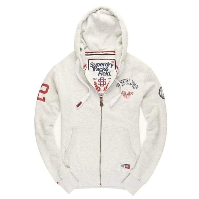Superdry Trackster Zip Hood Ice Marl XL