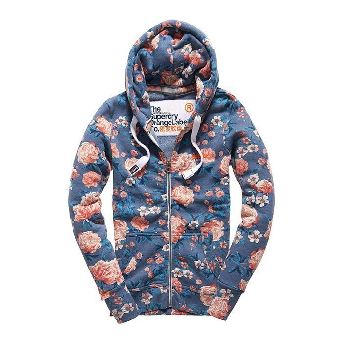 Superdry Women's Orange Label Aop Primary Ziphood