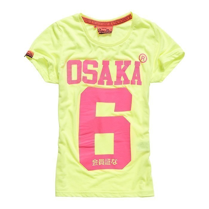 Superdry Women's Osaka 6 Tee Fluro/Yellow XS