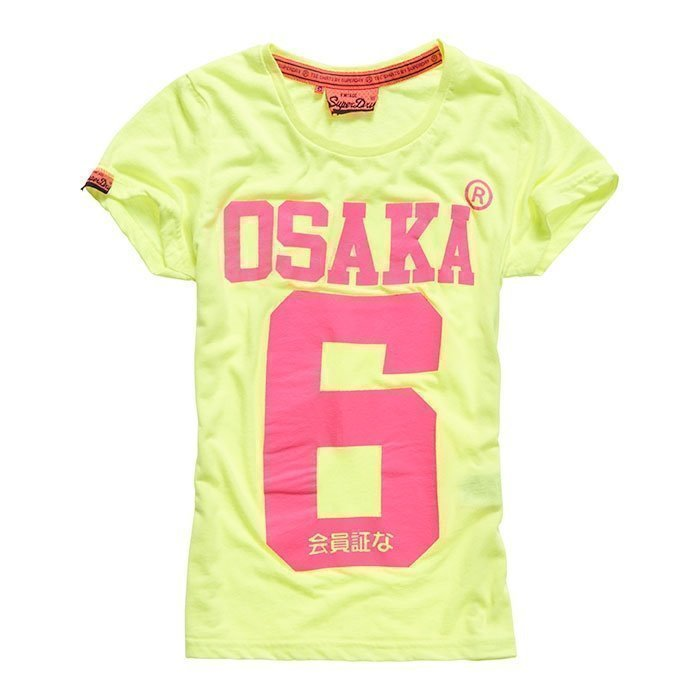 Superdry Women's Osaka 6 Tee Fluro/Yellow