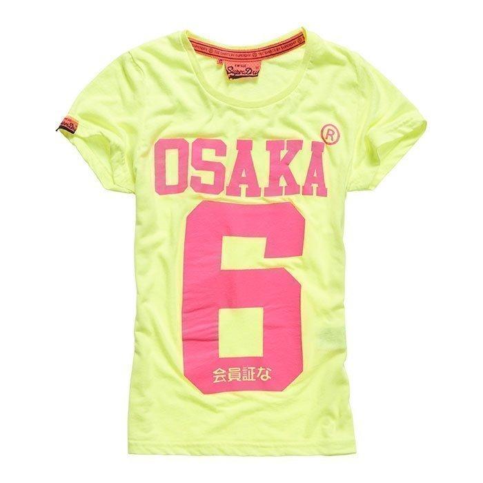 Superdry Women's Osaka 6 Tee Fluro/Yellow