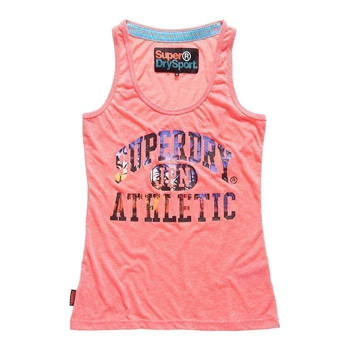 Superdry Women's Sunset Athletic Vest Pink XS