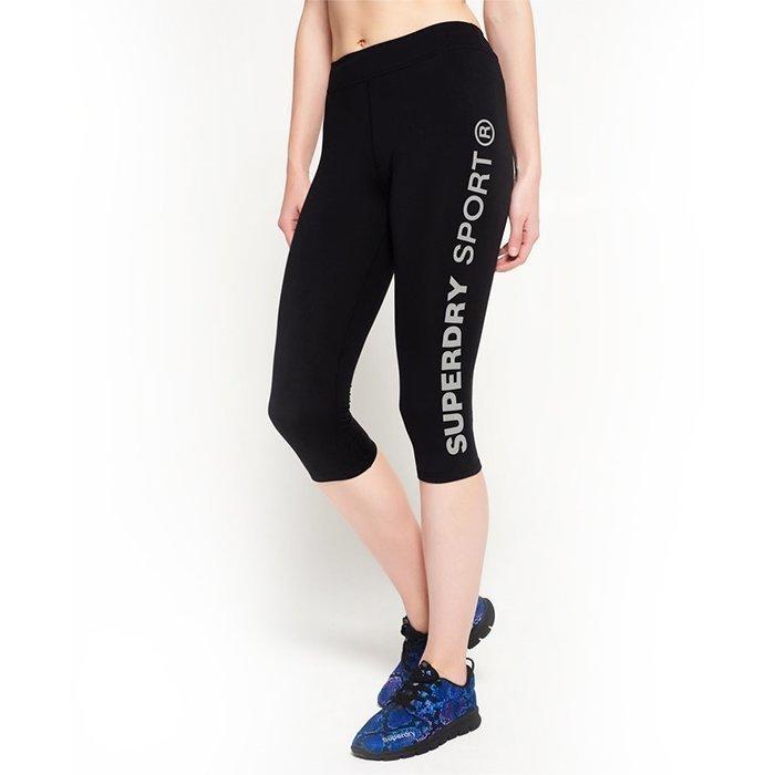 Superdry Women's Superdry Core Gym Capri Black XS