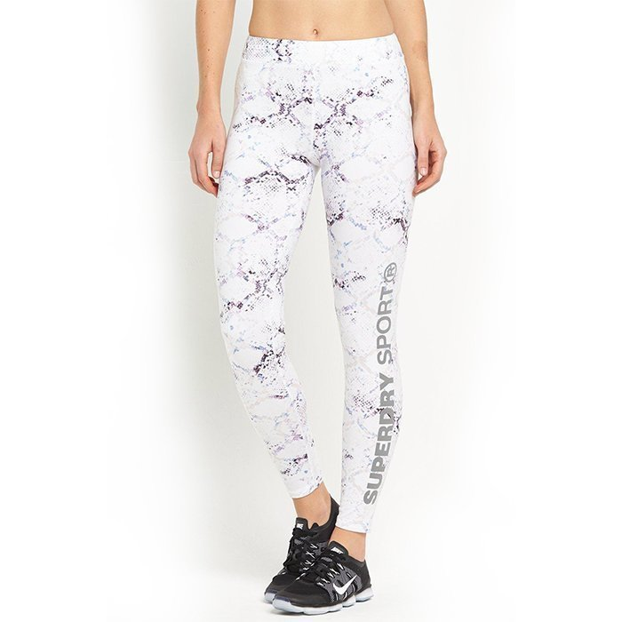 Superdry Women's Superdry Core Gym Legging White Python M