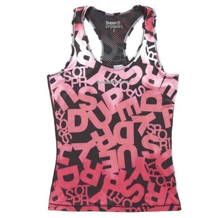 Superdry Women's Superdry Gym Core Print Vest Pink M