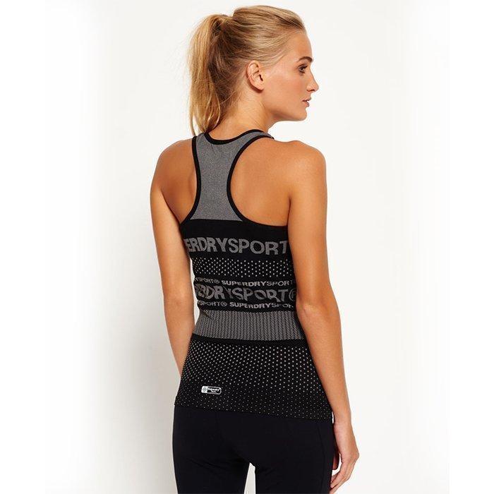 Superdry Women's Superdry Gym Seamless Vest Black M