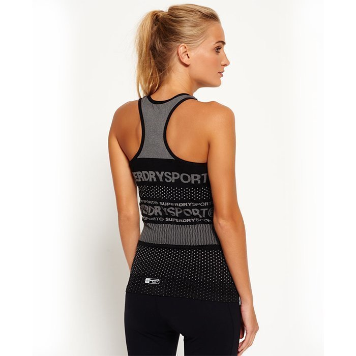 Superdry Women's Superdry Gym Seamless Vest Black