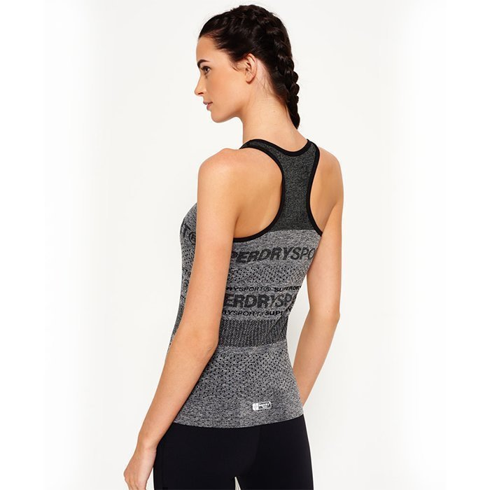 Superdry Women's Superdry Gym Seamless Vest Grey L
