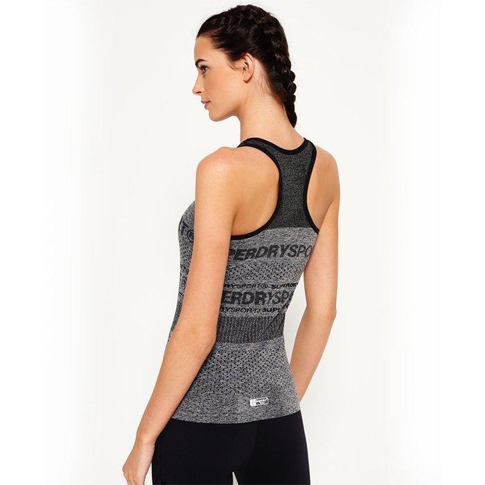 Superdry Women's Superdry Gym Seamless Vest Grey M