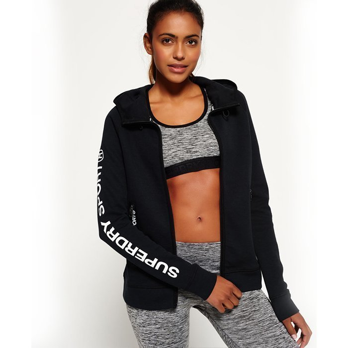 Superdry Women's Superdry Gym Tech Hood Black XS