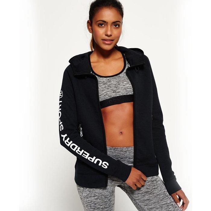 Superdry Women's Superdry Gym Tech Hood Black