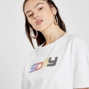 Supply & Demand Boyfriend T-Shirt Valkoinen