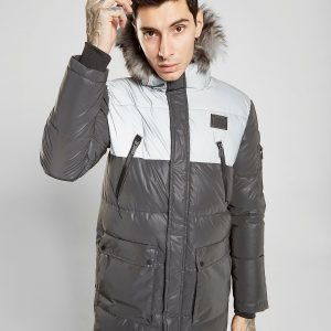 Supply & Demand Deux Reflective Parka Jacket Musta