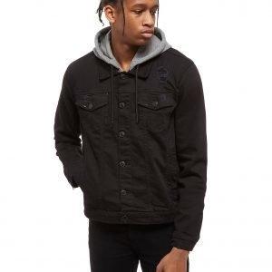 Supply & Demand Distressed Denim Jacket Musta