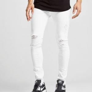 Supply & Demand Essential Distressed Skinny Farkut Valkoinen