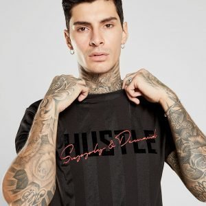 Supply & Demand Jacquard Hustler T-Shirt Musta