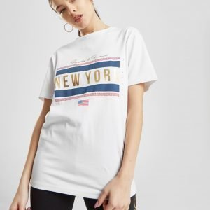 Supply & Demand Meander New York Boyfriend T-Shirt Valkoinen