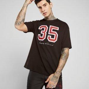 Supply & Demand Oversized Mesh T-Shirt Musta