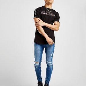 Supply & Demand Script Blessed T-Shirt Musta