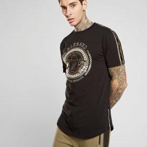 Supply & Demand Script Tape Baroque T-Shirt Musta