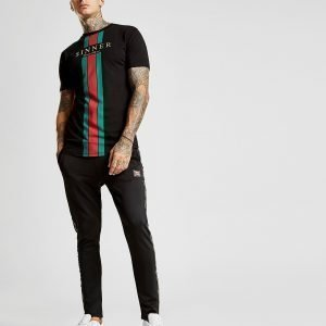 Supply & Demand Sinner Stripe T-Shirt Musta