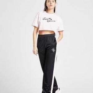Supply & Demand Wide Leg Popper Pants Musta