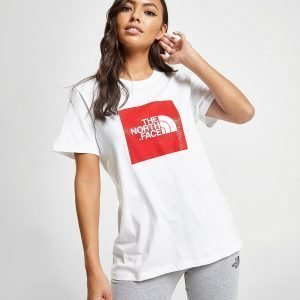 The North Face Box Logo Boyfriend T-Shirt Valkoinen