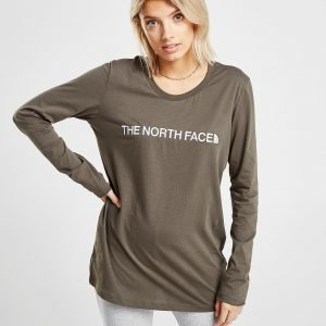 The North Face Embroidered Logo Long Sleeve T-Shirt Vihreä