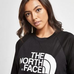 The North Face Mesh Crop Long Sleeve T-Shirt Musta