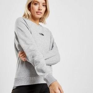 The North Face Rib Logo Crew Sweatshirt Harmaa