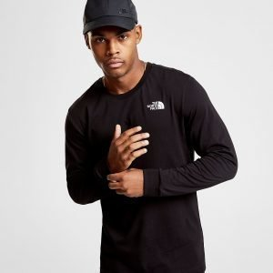 The North Face Simple Dome Long Sleeve T-Paita Musta
