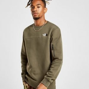 The North Face Zip Pocket Crew Sweatshirt Vihreä