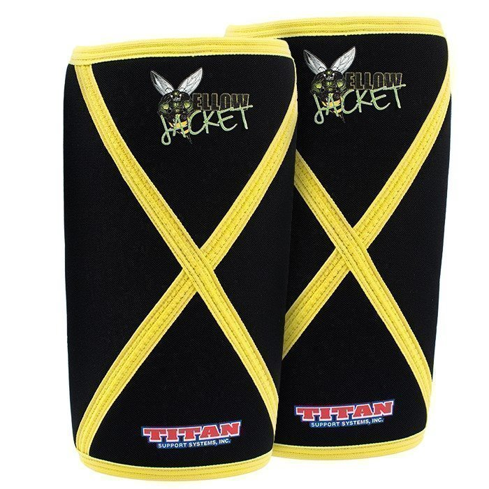 Titan Yellow Jacket Knee Sleeves Medium