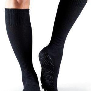 ToeSox-varvassukka Fulltoe Scrunch Knee musta