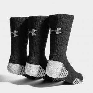 Under Armour 3 Pack Heatgear Tech Crew Socks Musta
